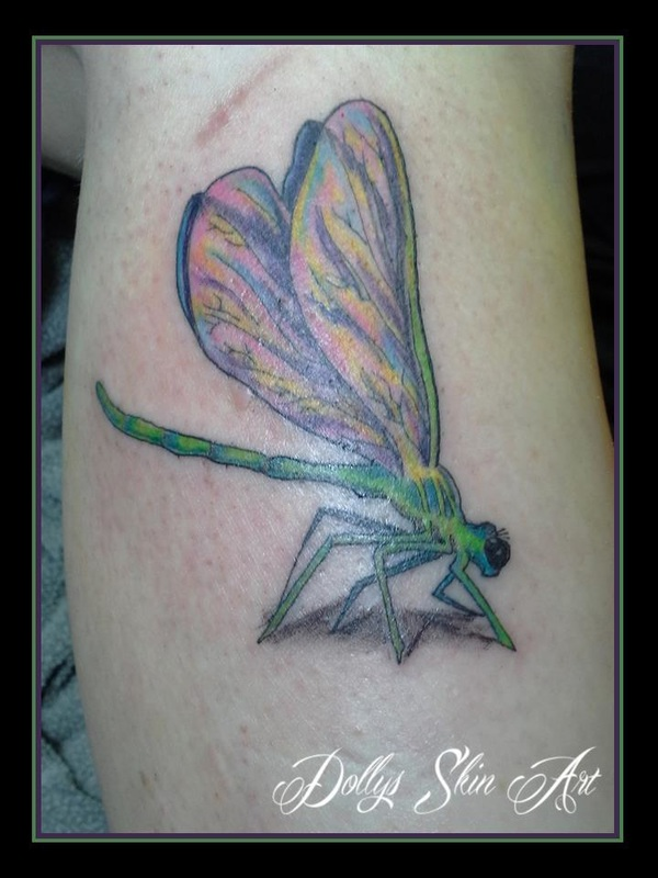 dragonfly tattoo colour