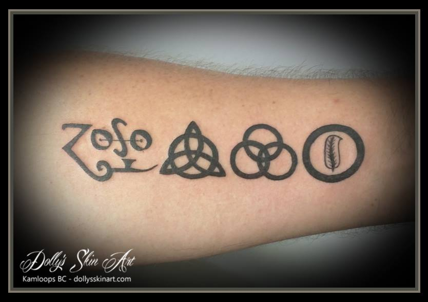 Dan Got The Symbols From His Favorite Album Led Zeppelin Iv