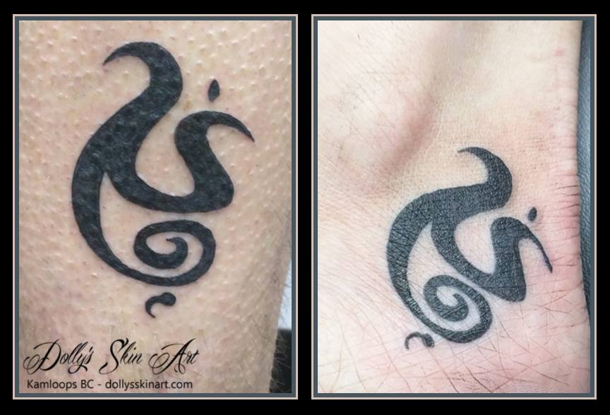small black matching celtic symbol strength anniversary tattoo kamloops dollys skin art