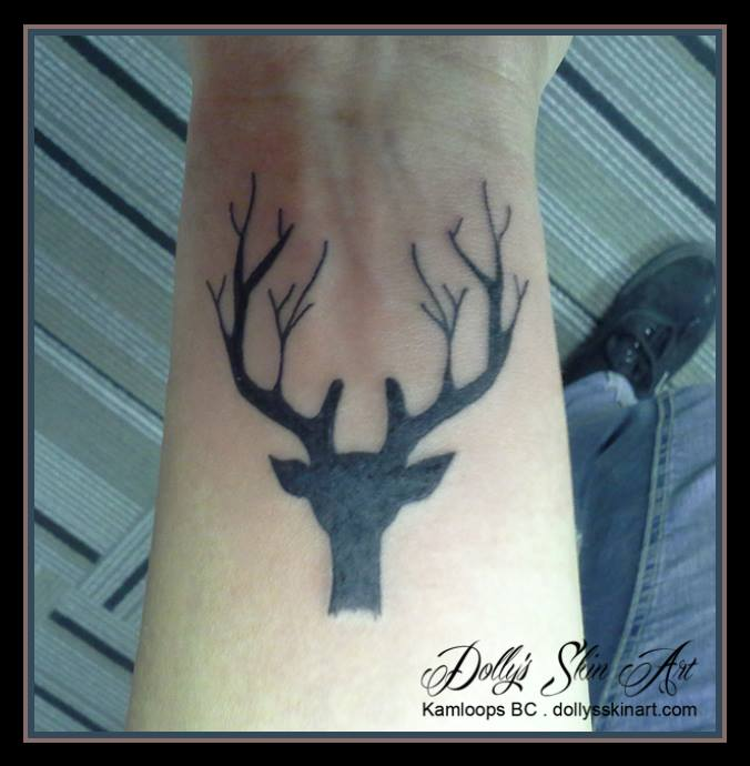 branch buck black tattoo wrist