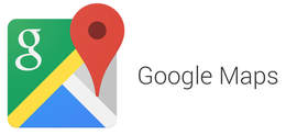 google maps logo link click for directions