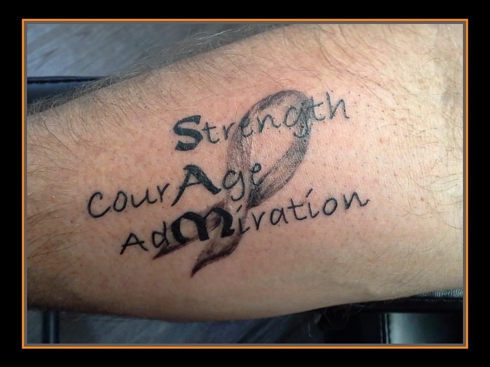 tattoo sam strength courage admiration