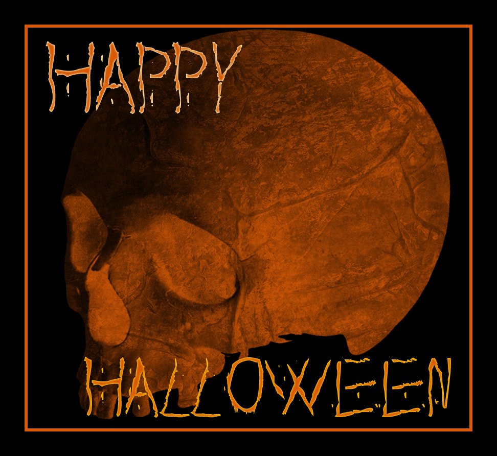 happy halloween dolly's skin art kamloops tattoo orange skull october 21 All Hallows Eve