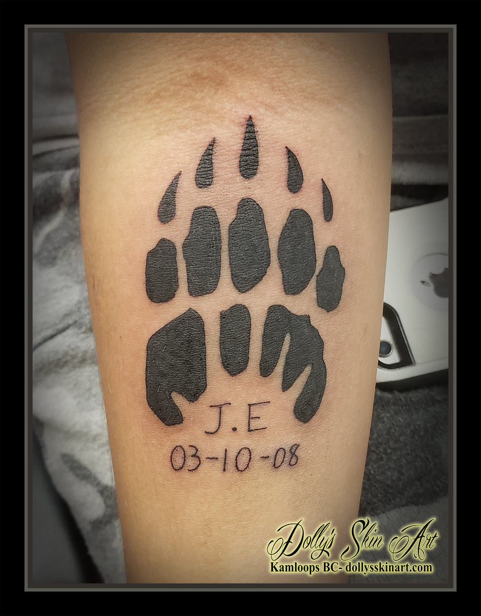 paw print tattoo black solid dates animal tattoo kamloops dolly's skin art
