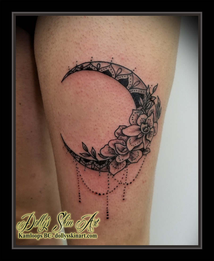 Memorial Moon For Raven Dollys Skin Art Tattoo Kamloops Bc